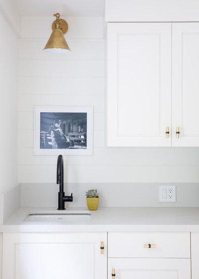 Farmhouse Laundry Room by Caitlin Jones Design