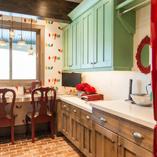 Transitional Laundry Room by Designs by Craig Veenker