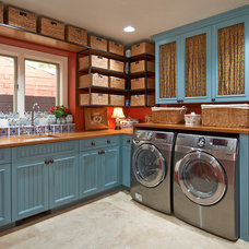 Traditional Laundry Room by Hawk Construction