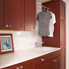 Contemporary Laundry Room by Signature Design & Cabinetry LLC