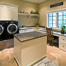 Eclectic Laundry Room by Gryboski Builders Inc.