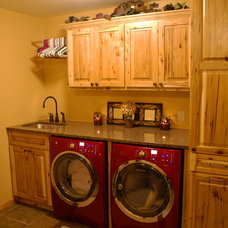 Traditional Laundry Room by Bergstrom Cabinets