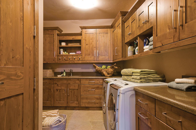 Farmhouse Laundry Room by Kitchens by Wedgewood