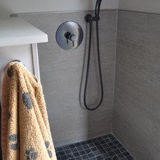 Rustic Laundry Room by Farrow Arcaro Design