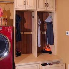 Rustic Laundry Room by Mullet Cabinet