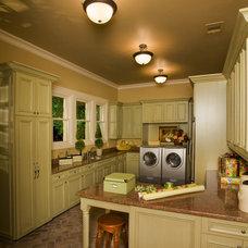 Traditional Laundry Room by Sam Allen Custom Home Design
