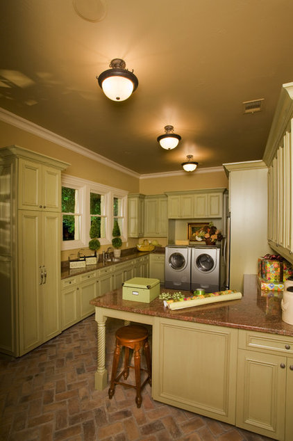 Traditional Laundry Room by Sam Allen Custom Home Design
