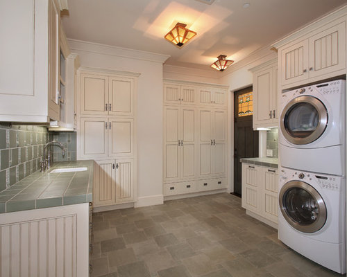 Counter Height In Laundry Room : Craftsman Counter Height Laundry Room Design Ideas, Remodels & Photos