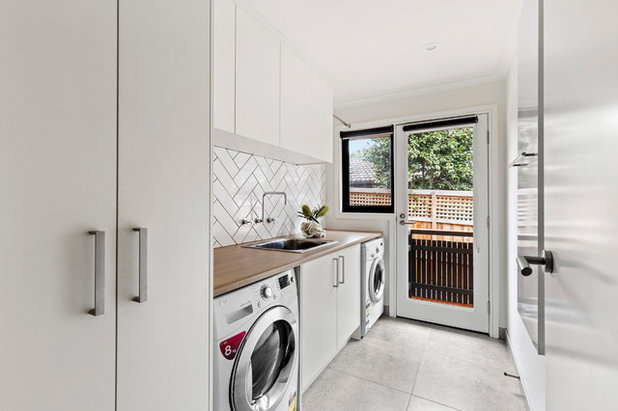 Contemporary Laundry Room by Minett Studio Architecture and Design