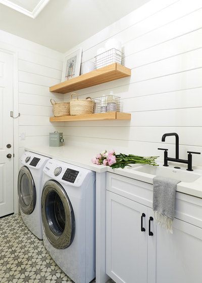 Beach Style Laundry Room by South Harlow Interiors