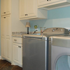 Eclectic Laundry Room by Kitchen & Bath Design Studio
