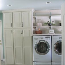 Traditional Laundry Room by Castle Construction