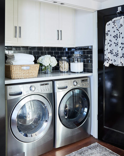 Transitional Laundry Room by Urrutia Design
