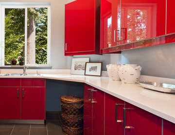 Seattle Accessible Master Bath & Red Kitchen