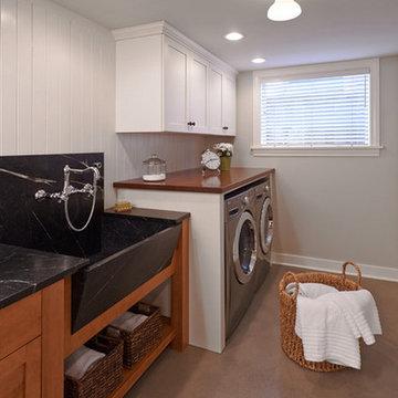 Seattle, WA - Transitional - African Mahogany Laundry Room Countertop