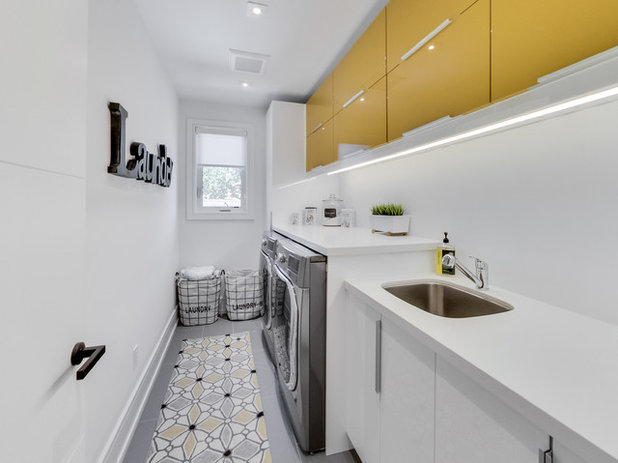 Contemporary Laundry Room by SeventyNine Construction