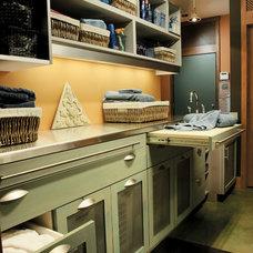 Craftsman Laundry Room by Seifer Kitchen Design Center