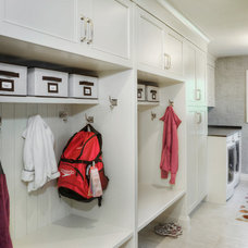 Transitional Laundry Room by Braam's Custom Cabinets