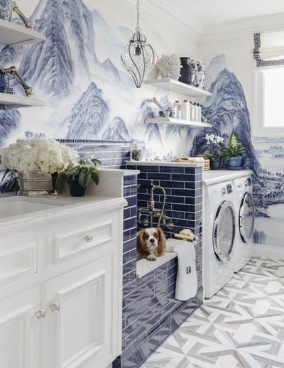 Traditional Laundry Room by Dina Bandman Interiors