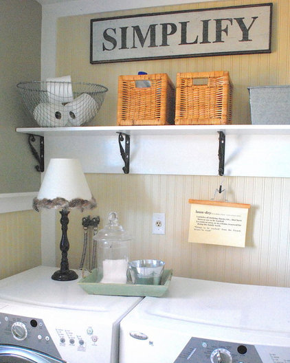 Traditional Laundry Room by The Shabby Nest