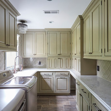 Shady Side Kitchen Remodel with Laundry Room