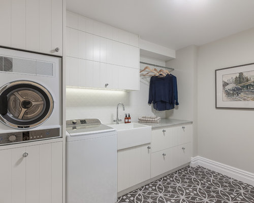 6 Transitional New Zealand Laundry Room Design Ideas & Remodel ...