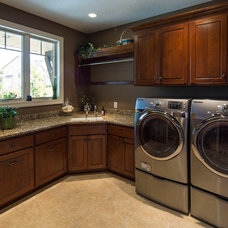 Traditional Laundry Room by DURST & GANS BUILDING CORP