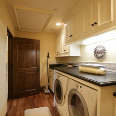 mediterranean laundry room Shehata House Choices