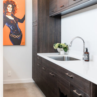 Example of a trendy laundry room design in Sacramento