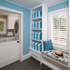 Beach Style Laundry Room by Clawson Architects, LLC