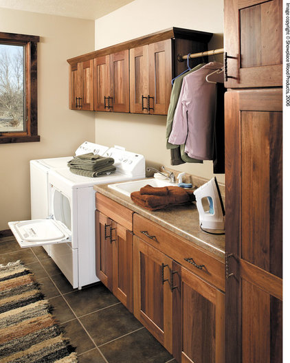 Traditional Laundry Room by Showplace Wood Products
