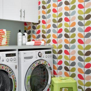Ispirazione per una lavanderia scandinava