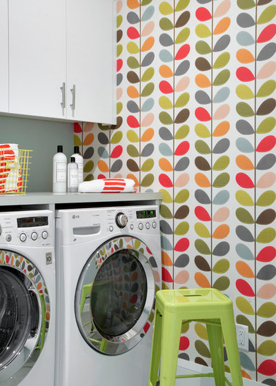 Scandinavian Laundry Room by Lucy Interior Design