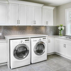 Contemporary Laundry Room by Braam's Custom Cabinets