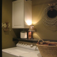 traditional laundry room Small Laundry Room