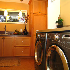 Contemporary Laundry Room by Wendy O'Brien Interior Planning & Design