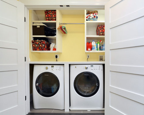 Top 20 Laundry Room with Yellow Walls Ideas & Photos | Houzz