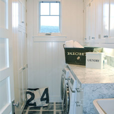 Beach Style Laundry Room by Taylynn Michel Interior Design