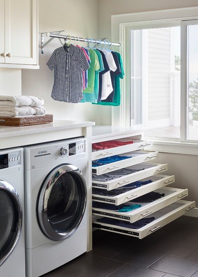 Beach Style Laundry Room by Pinney Designs