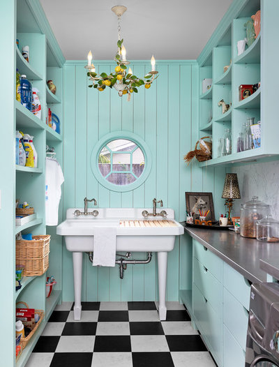 Eclectic Laundry Room by Dillon Kyle Architects (DKA)