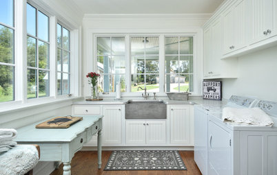 Farmhouse-Style Laundry Room Brings the Outside In