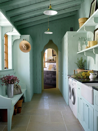 Mediterranean Laundry Room by Michael G Imber, Architects