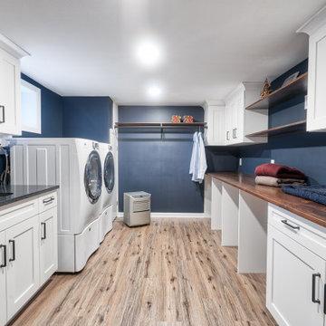 Spacious Farmhouse Laundry Room