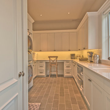 Spacious Laundry Room with a View