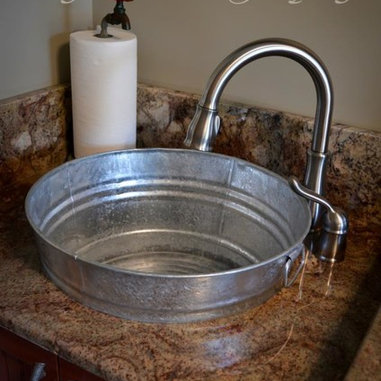 Laundry Room Granite Countertop in Typhoon Bordeaux Granite with an ...