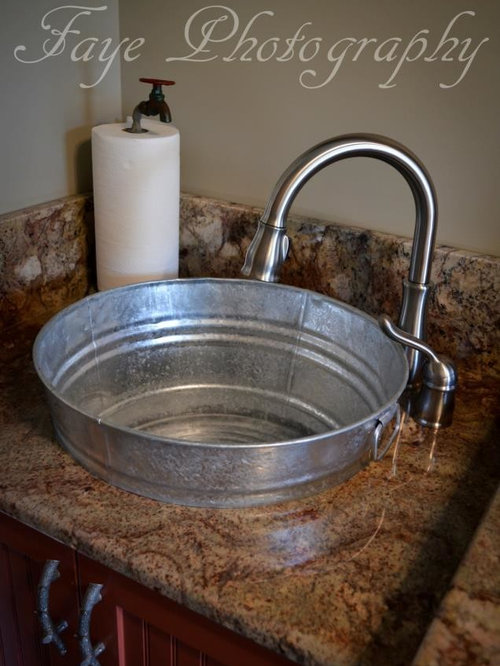 Galvanized Bathroom Sink