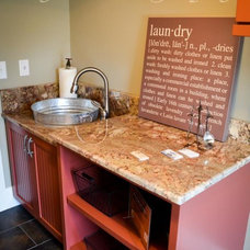 Traditional Laundry Room by Bloomday Granite