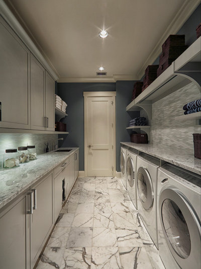 Transitional Utility Room by Busby Cabinets