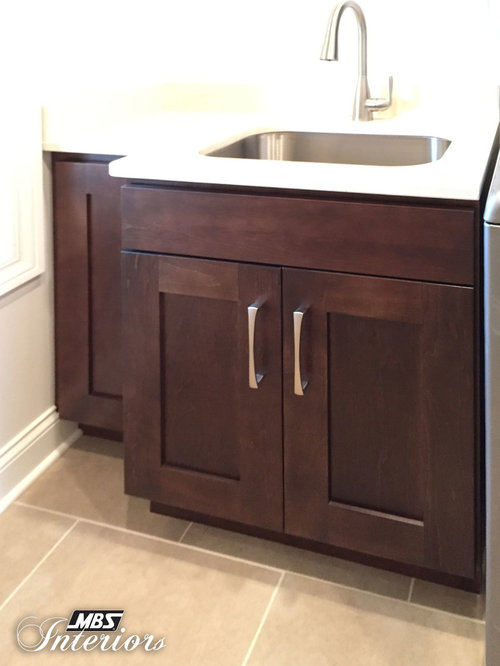 Laundry Room Undermount Sinks : 20 Mocha Color Laundry Room Design Photos with an Undermount Sink