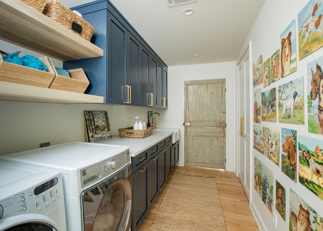 Farmhouse Laundry Room by Jonathan Miller Architecture & Design